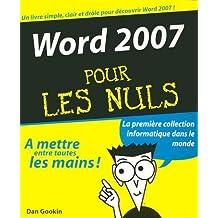 Word 2007 - pour les nuls