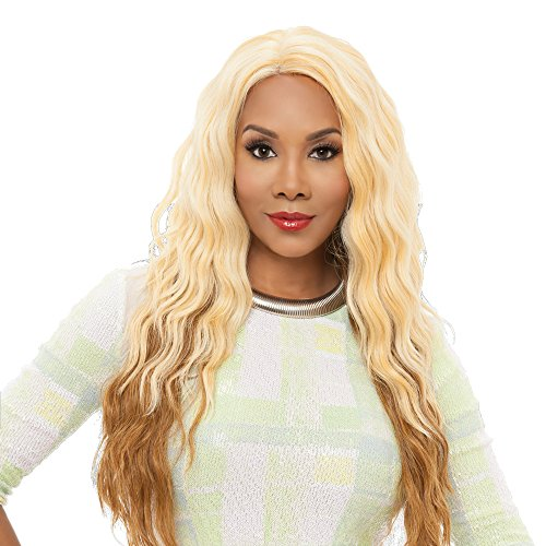 Vivica A Fox Yucera Synthetic Fiber Natural Baby Hair Lace Front Wig, 1B, 13 Ounce (Best Synthetic Wigs)