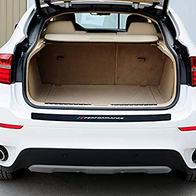 100CM/39Inch New M Performance Rubber Rear Bumper Guard Plate Protector Sticker For bmw X3 e83 f25 X4 X5 e53 e70 f15 g05 X6 e71 f16 e39 e46 e90 f30 f10 f20 f32 Accessories(not fit for X3 G01): Automotive