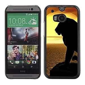 Stuss Case / Funda Carcasa protectora - Lion Silhouette Sunset Sea Ocean Summer - HTC One M8