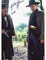 TOMBSTONE signed 11x14 cast photo / Kurt Russell, Val Kilmer - UACC Registered Dealer # 212
