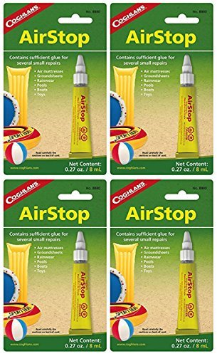 Coghlan's Airstop Sealant, 0.27-Ounce/ 8 ml, 4 Pack