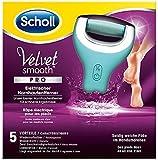 Scholl Velvet Smooth Pedi Pro Elektrischer Hornhautentferner, wiederaufladbar, Akku, Pedküre, Fußpflege, 1 Gerät inkl. Ladestation