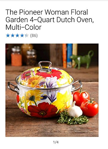 The Pioneer Woman Floral Garden 4-Quart Dutch Oven, Multi-Co
