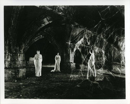 Dracula Spooky Scene Three Women In Dungeon With Cobwebs 8X10 -