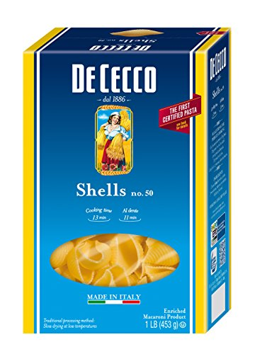 De Cecco Pasta, Shells, 16 Ounce (Pack of 5) (Conchiglie Pasta compare prices)