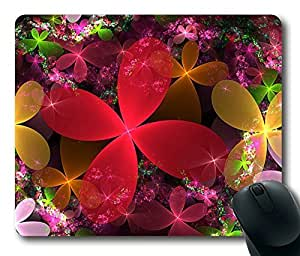 Beautiful Corlorful Flowers Masterpiece Limited Design Oblong Mouse Pad by Cases & Mousepads