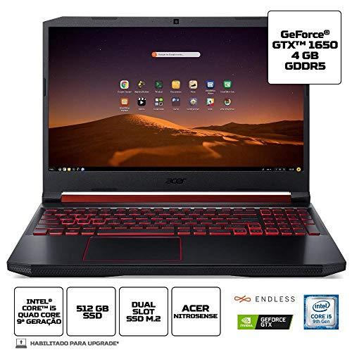 Notebook Acer Aspire Nitro 5 AN515-54-574Q CI5 8GB 512GB SSD 15.6 Endless OS