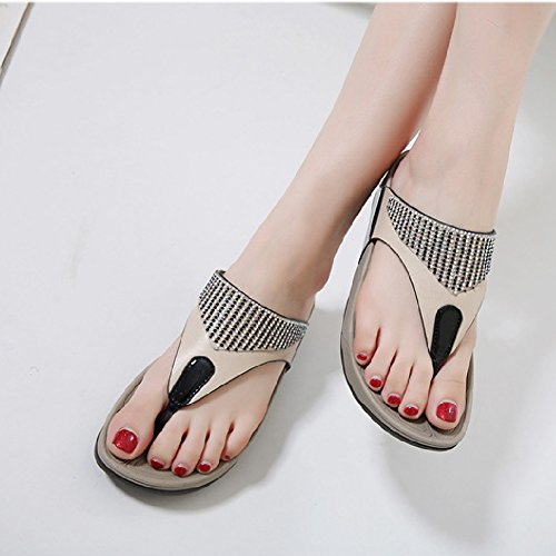 Thong Shoes Womens Black Slip Slope Sandal Anti Flip Flops Wedge Btrada 5TaUwqzxq