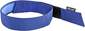 Ergodyne Chill Its 6705CT Cooling Bandana, Lined with Evaporative PVA Material for Fast Cooling Relief, Quick and Secure Fit