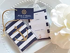 60 Nautical Anchor & Wheel Luggage Tag favors personalized custom $1.75 ea.
