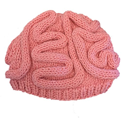 BIBITIME Unisex Handmade Knitted Brain Beanie Cap Halloween Hat Christmas Gift (Made to fit average adult, -