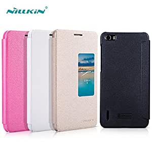 Deal4U NILLKIN Huawei Honor 6 Leather Case Sparkle Series Huawei Honor 6 Flip Case Protective Case Gift Screen Protector #-# Color#=Black