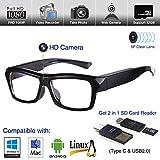 Video Glasses Hidden Camera - Camera Glasses 1080p - Eye Glasses with Camera - Spy Camera Glasses