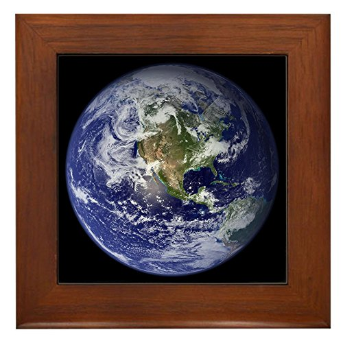 Framed Tile Planet Earth The World