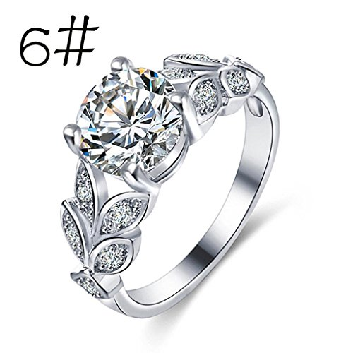 Price comparison product image Womens rings,Lamolory Flower Crystal Wedding Ring For Jewelry Accessories Rose Gold Gold Engagem