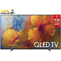 Samsung QN65Q9 65-Inch 4K Ultra HD Smart QLED TV (2017 Model) + 1 Year Extended Warranty (Certified Refurbished)