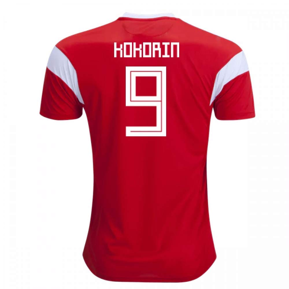 2018-19 Russia Home Football Soccer T-Shirt Trikot (Aleksandr Kokorin 9) - Kids