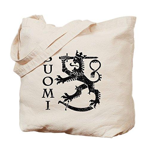 CafePress–Suomi escudo de armas–Gamuza de bolsa de lona bolsa, bolsa de la compra Small caqui