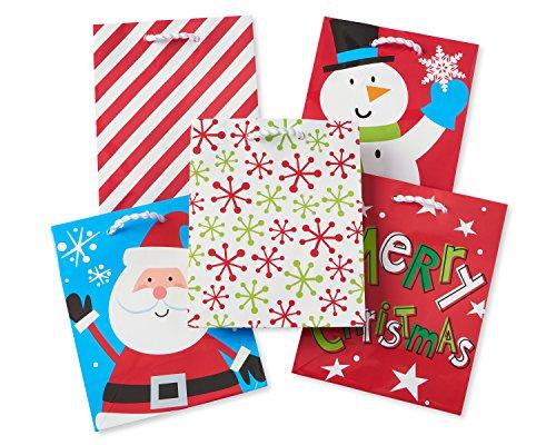 - American Greetings 5919959 Fun Christmas Gift Bag Bundle, Multi-Colored