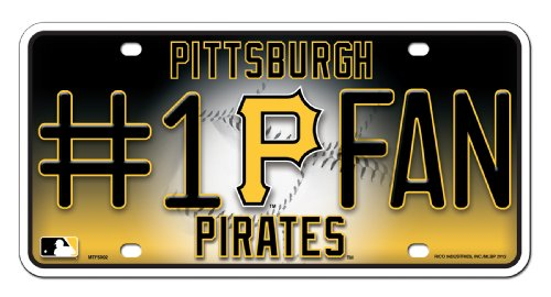 MLB Pittsburgh Pirates #1 Fan Metal Tag