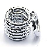 MagiDeal 6pcs Silver alloy Round Spring Snap Hooks clip Handbag Purse Shoulder Strap