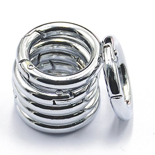 (MagiDeal 6pcs Alloy Round Spring Snap Hooks clip Handbag Purse Shoulder Strap)
