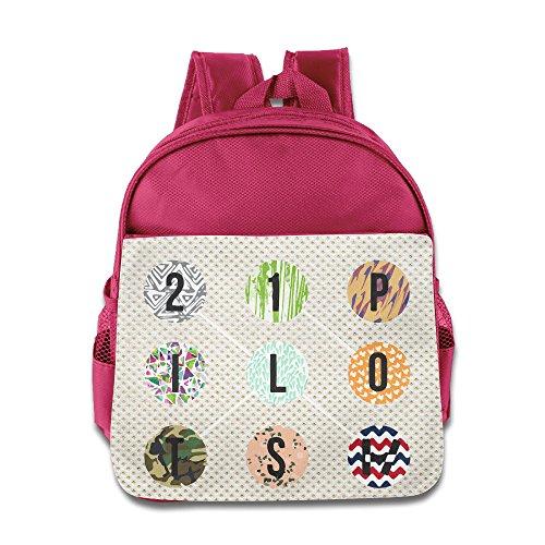 Rock Punk 21 Pilots School Kids Backpack Boys Girls Bags Pink
