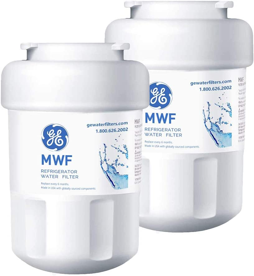 MWF Refrigerator Water Filter For GE SmartwaterWater Filter Replacement Compatible with GE SmartWater MWF, MWFINT, MWFP, MWFA,GWF, GWFA (2 Pack)