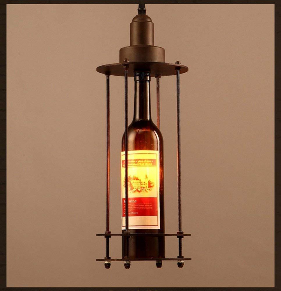Pays de l'Amérique, Loft lustre Retro fer decorationcreative les bouteilles en verre de cafe bar bouteille de lampes forteHommest anti-oxydantes.