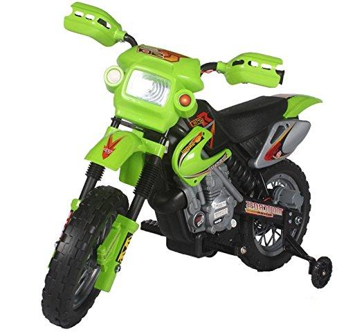 Kinderfahrzeug - Elektro Cross Kindermotorrad - 6V4,5Ah - Neuheit - 6V Akku (Grün)