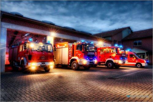 Markus Will Premium-Poster Feuerwehrfahrzeuge