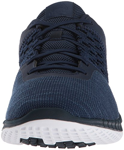 Reebok White Navy Print Steel Run Men's Dist Sneaker Coll rfaHrw0qY