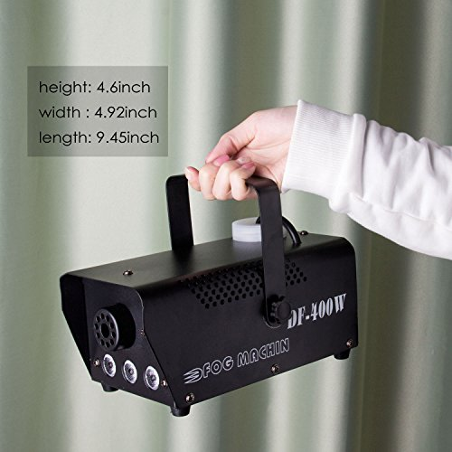 Fog Machine, Miric Smoke Machine Portable with LED Lights Equipped with Wired and Wireless Remote Control for Party, Christmas, Halloween and Weddings (400W) by Miric (Image #5)