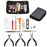 Jewelry Making Tools Kit,FOME 19PCS DIY Craft Jewelry Tool Kit Set with Zipper