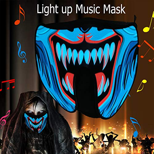 Scary Child Neon Costumes - Halloween mask neon mask led mask