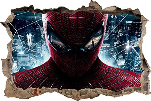 Spiderman Smashed Wall Sticker Graphic Decal Home Decor Art Mural J292, -