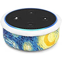 Fintie Protective Case for Amazon Echo Dot (Fits All-New Echo Dot 2nd Generation) - Premium Vegan Leather Sleeve Cover Plush Lined Holder Stand (Upgraded Edition) Starry Night (SAAD012US-AD)