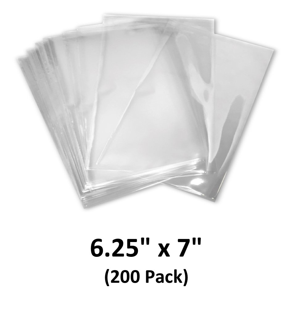 6.25x7 inch Odorless, Clear, 100 Guage, PVC Heat Shrink Wrap Bags for Gifts, Packagaing, Homemade DIY Projects, Bath Bombs, Soaps, and Other Merchandise (200 Pack) | MagicWater Supply