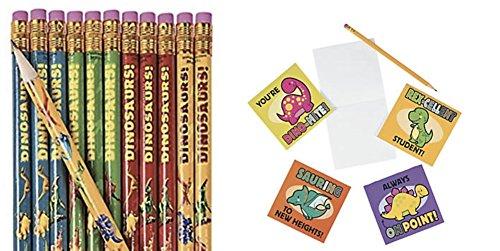 DG Shopping Spree Dinosaur Pencils and Dinosaur Notepads (48 Pieces)