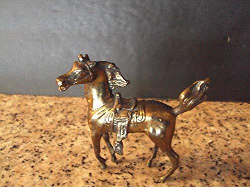 - Vintage JB Jennings Brothers Cast Gold Metal Horse Saddle Very Detailed