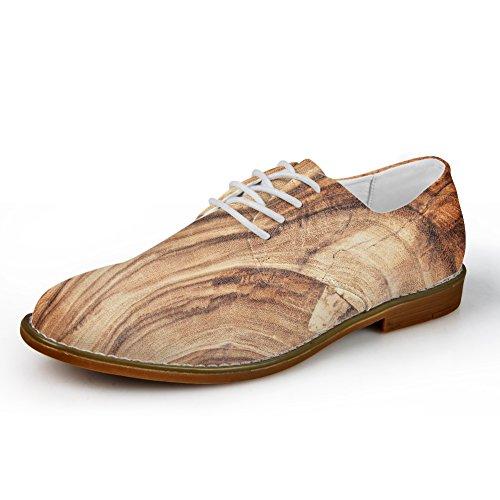 Color1 Wood Hombre con Zapatos Planos Nopersonality Cordones TwHYAxWqC