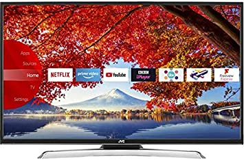 JVC 43 Inch Full HD 1080p Smart LED TV Freeview HD con TDT Play y incorporado