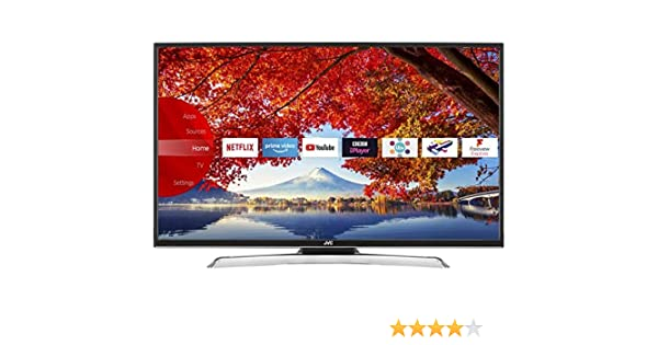 JVC 43 Inch Full HD 1080p Smart LED TV Freeview HD con TDT Play y incorporado WiFi (Catch Up TV: BBC iPlayer, reproductor de ITV, todos los 4, Mi 5, uktv Play,