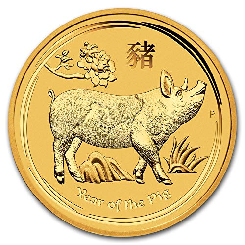 2019 AU Australia 1 kilo Gold Lunar Pig BU Gold Brilliant Uncirculated ()