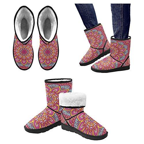 InterestPrint Womens Snow Boots Unique Designed Comfort Winter Boots Multi 13 JTgrQ