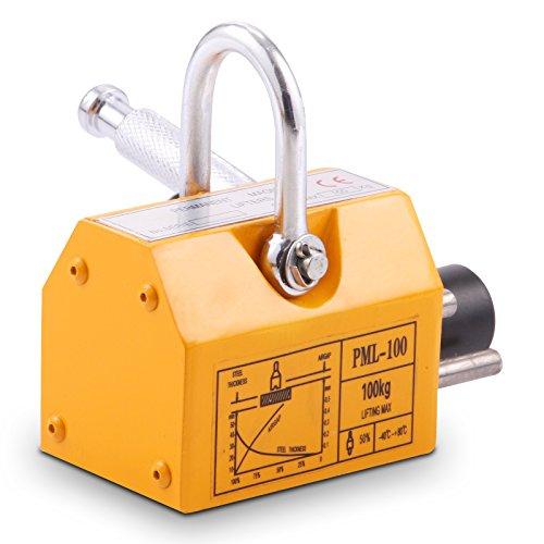 OrangeA 220LBS 100KG Steel Magnet Lifter Neodymium Magnetic Lifting Magnet Magnetic Shop Crane Metal Lifting Hoist (220LBS) by OrangeA (Image #2)