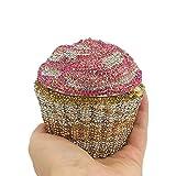 Cupcake Crystal Clutch Evening Bags Wedding Party Bridal Diamond Minaudiere Handbag Clutches Purse (2)
