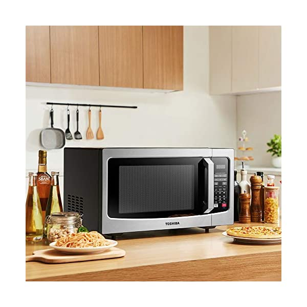 Toshiba EM131A5C-SS Microwave Oven with Smart Sensor, Easy Clean Interior, ECO Mode and Sound On/Off, 1.2 Cu Ft… 6