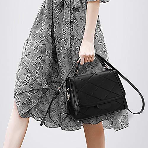Versátil Bolsa La Mujeres Simple Tendencia Las Mensajero Bolso Moda De Cuero UTqSF71fx